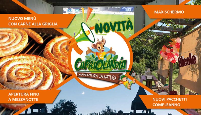 capriolandia maxischermo compleanni menu apertura